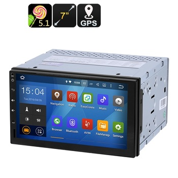 2 DIN Araç Media Player-7-Inch ekran, Android 5.1, GPS, Bluetooth, Google Play, FM Radyo