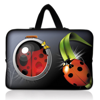 "Ladybug 10.1"" 10.2"" Netbook Laptop Carrying Sleeve Case Bag Cover+ Hide Handle For 9.7""-10.2"" Apple, ASUS,ACER, HP,DELL"