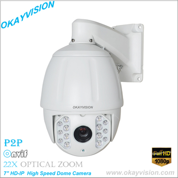 7 inç HD-IP Yüksek Speed Dome Kamera Onvif 1080 P 2.0 Megapiksel 22X optik zoom Ağ IP PTZ kamera orta speed dome kamera