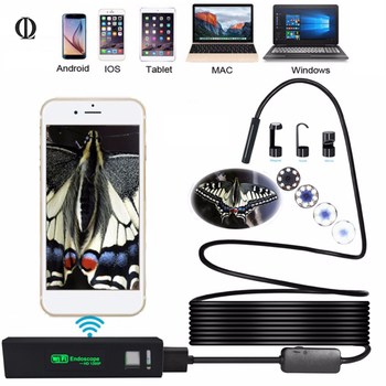2/3. 5/7/10 M USB Mini Mikro Endoskop Kamera Kamera Espía HD 1200 P Endoskop Wifi Borescope Video için Endoscopio Android/iOS
