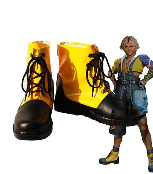 Final Fantasy Tidus FF5 Cosplay Ayakkabı Çizme Custom Made